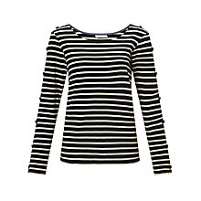 Buy Maison Scotch Long Sleeve Breton T-Shirt, Black Melange Online at johnlewis.com
