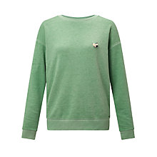 Buy Maison Scotch Burnout Sweatshirt, Paradise Green Online at johnlewis.com