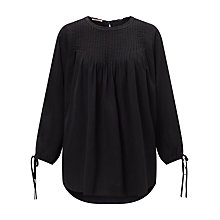 Buy Maison Scotch Drapey Tencel Top, Black Online at johnlewis.com