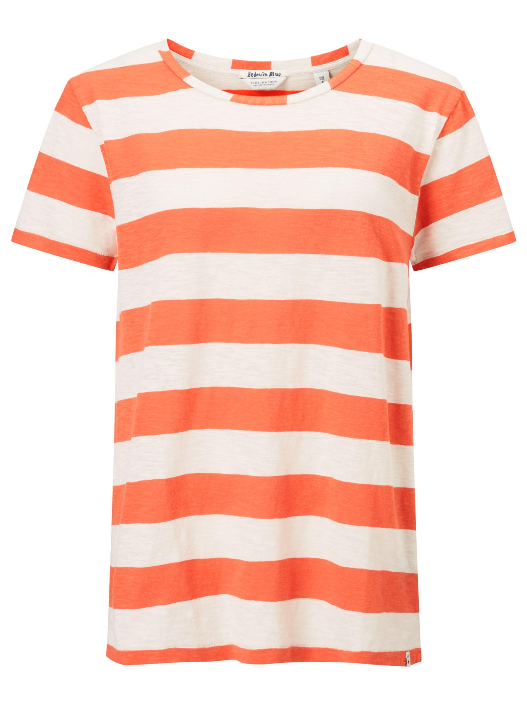 Maison Scotch Maison Scotch Loose Fit Stripe T-Shirt