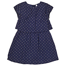 Buy Jigsaw Girls' Spot Layer Party Dress, Navy Online at johnlewis.com