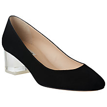 Buy L.K. Bennett Arielle Block Heeled Court Shoes, Black Online at johnlewis.com