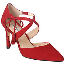 Buy L.K. Bennett Loren Suede Court Shoes, Red Online at johnlewis.com