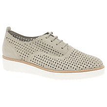 Buy Gabor Castellian Perforated Wedge Heeled Brogues, Beige Online at johnlewis.com