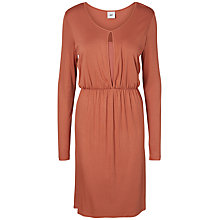 Buy Mamalicious Kimo Lia Jersey Maternity Nursing Dress, Cedar Online at johnlewis.com