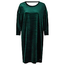 Buy Numph Larissa Velvet Dress, Green Online at johnlewis.com