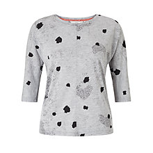 Buy Numph Dot Pattern Jersey Top, Grey Online at johnlewis.com
