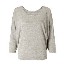 Buy Numph Kria Blouse, Light Grey Melange Online at johnlewis.com