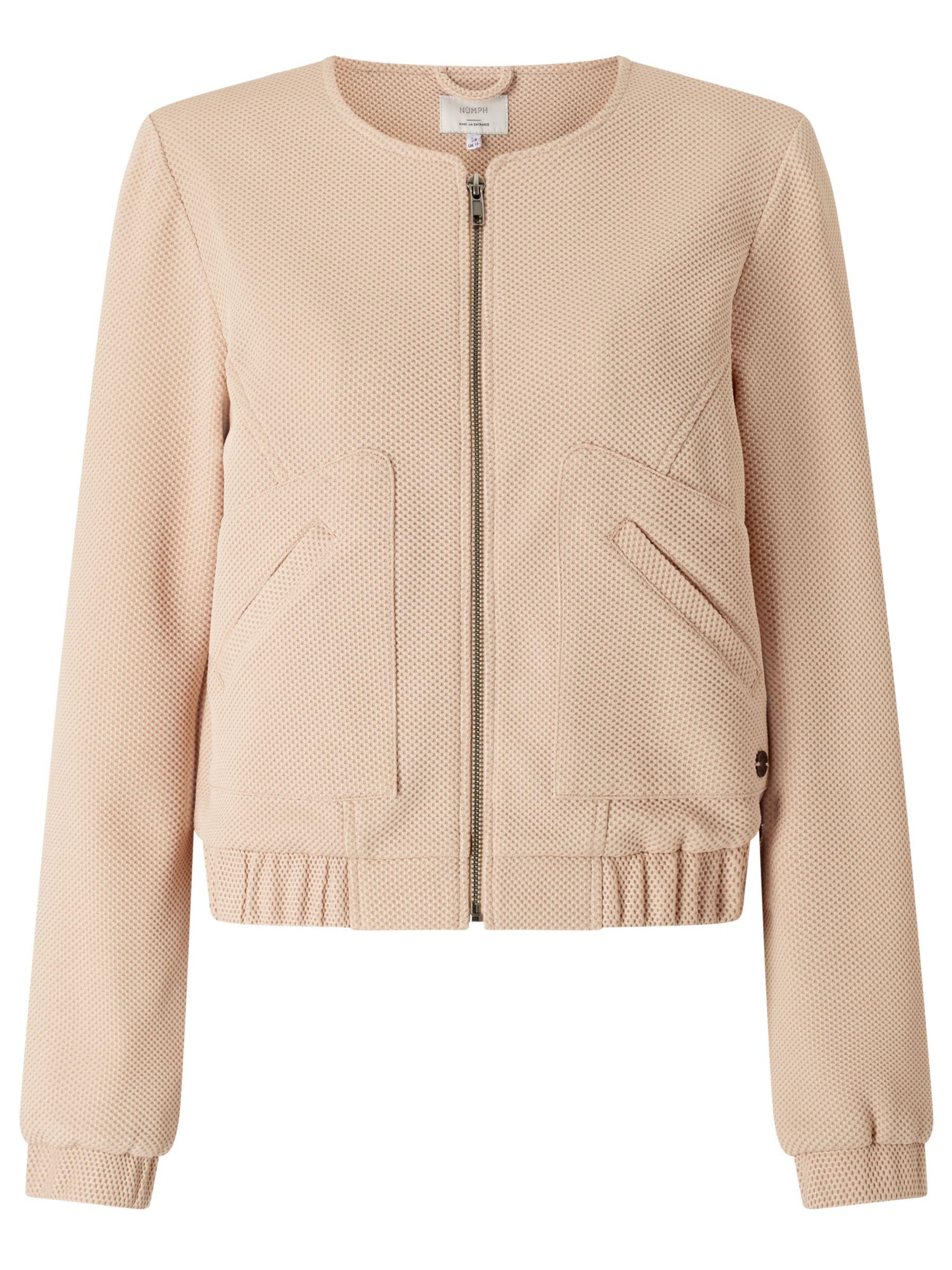 Numph Numph Jarla Textured Bomber Jacket, Pink