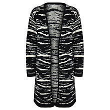 Buy Numph Evuska Cardigan, Black/White Online at johnlewis.com