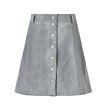 Buy Numph Carla Suede Skirt, Silver Online at johnlewis.com