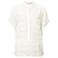 Buy Numph Marlis Textured Shirt, Cloud Dancer Online at johnlewis.com
