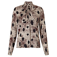 Buy Numph Myrra Pussybow Printed Shirt, Multi Online at johnlewis.com