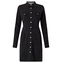 Buy Numph Shelley Denim Shirt Dress, Black Online at johnlewis.com