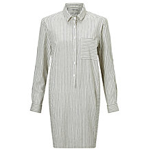 Buy People Tree Edith Stripe Shirt Dress, White Online at johnlewis.com