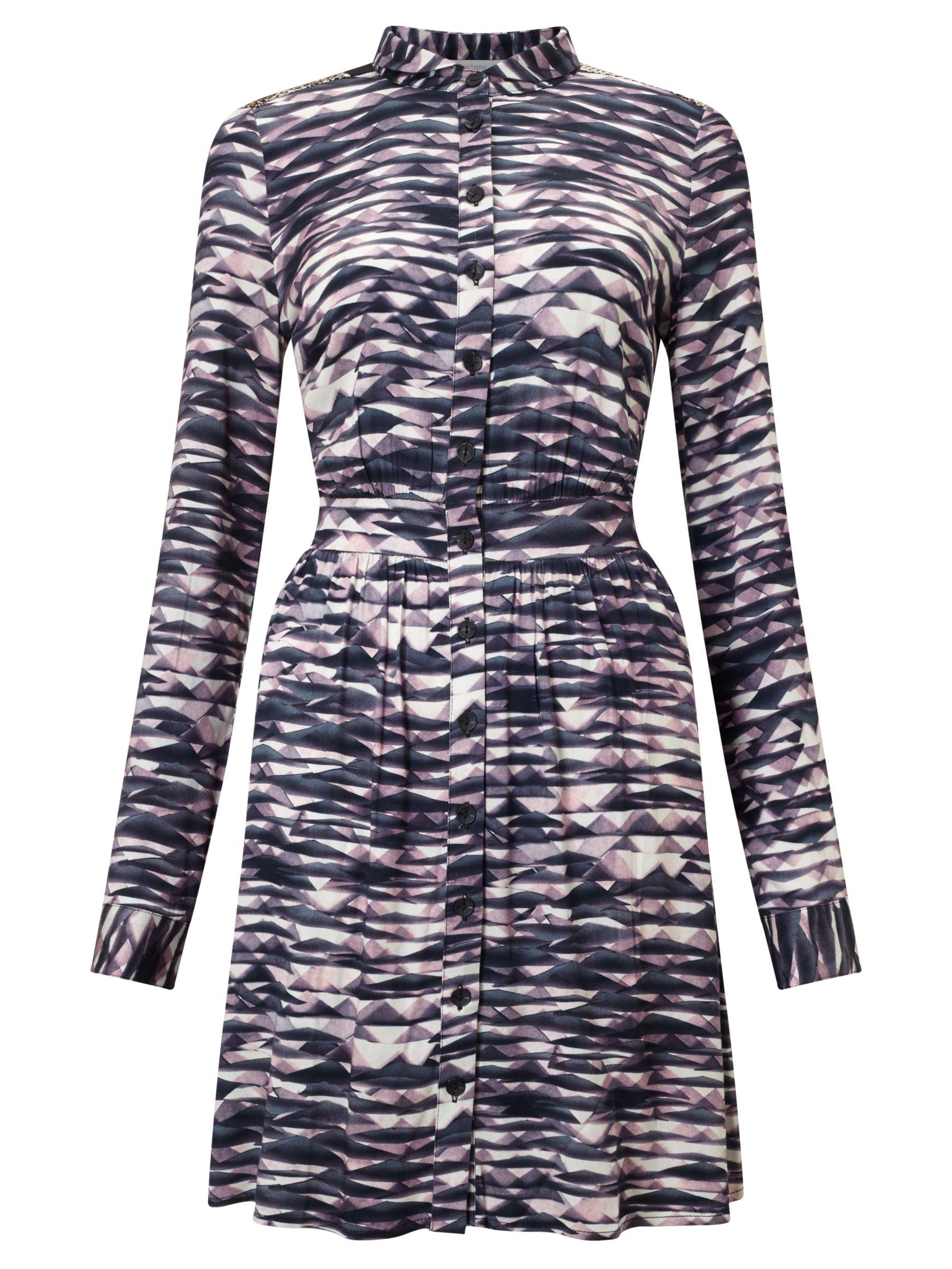 Numph Numph Josefin Printed Shirt Dress, Multi