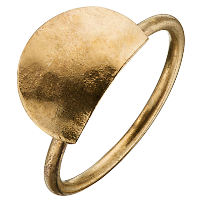People Tree Semi Circle Ring, Gold
