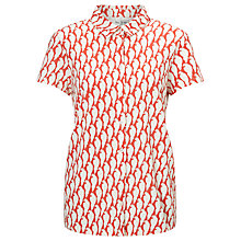 Buy People Tree Parrot Print Shirt, Red/White Online at johnlewis.com