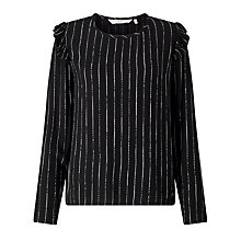 Buy Numph Anneli Stripe Top, Caviar Online at johnlewis.com