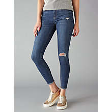 Buy Pieces Delly Cropped Skinny Jeans, Medium Blue Online at johnlewis.com