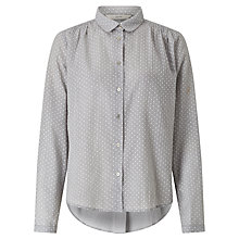 Buy Numph Nadja Dot Shirt, Light Grey Melange Online at johnlewis.com