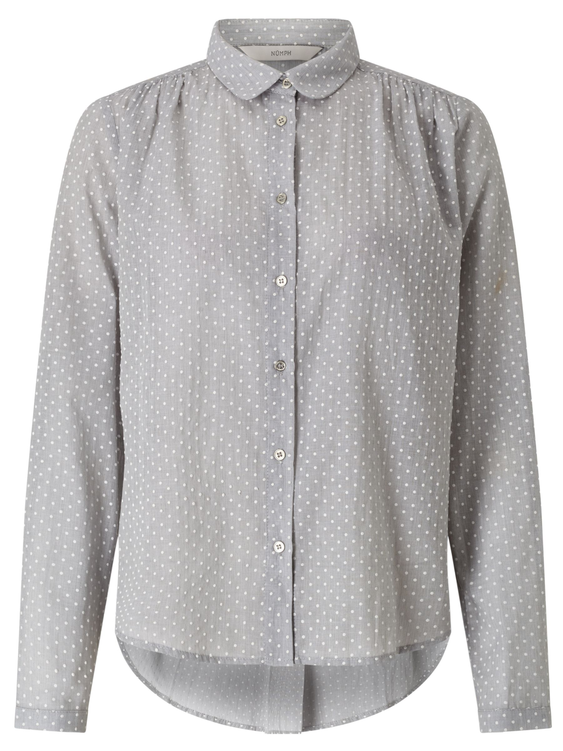 Numph Numph Nadja Dot Shirt, Light Grey Melange