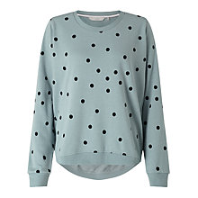 Buy Numph Nikolisa Dot Sweatshirt, Slate Melange Online at johnlewis.com