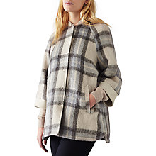 Buy Numph Jannika Check Jacket, Dark Gull Online at johnlewis.com