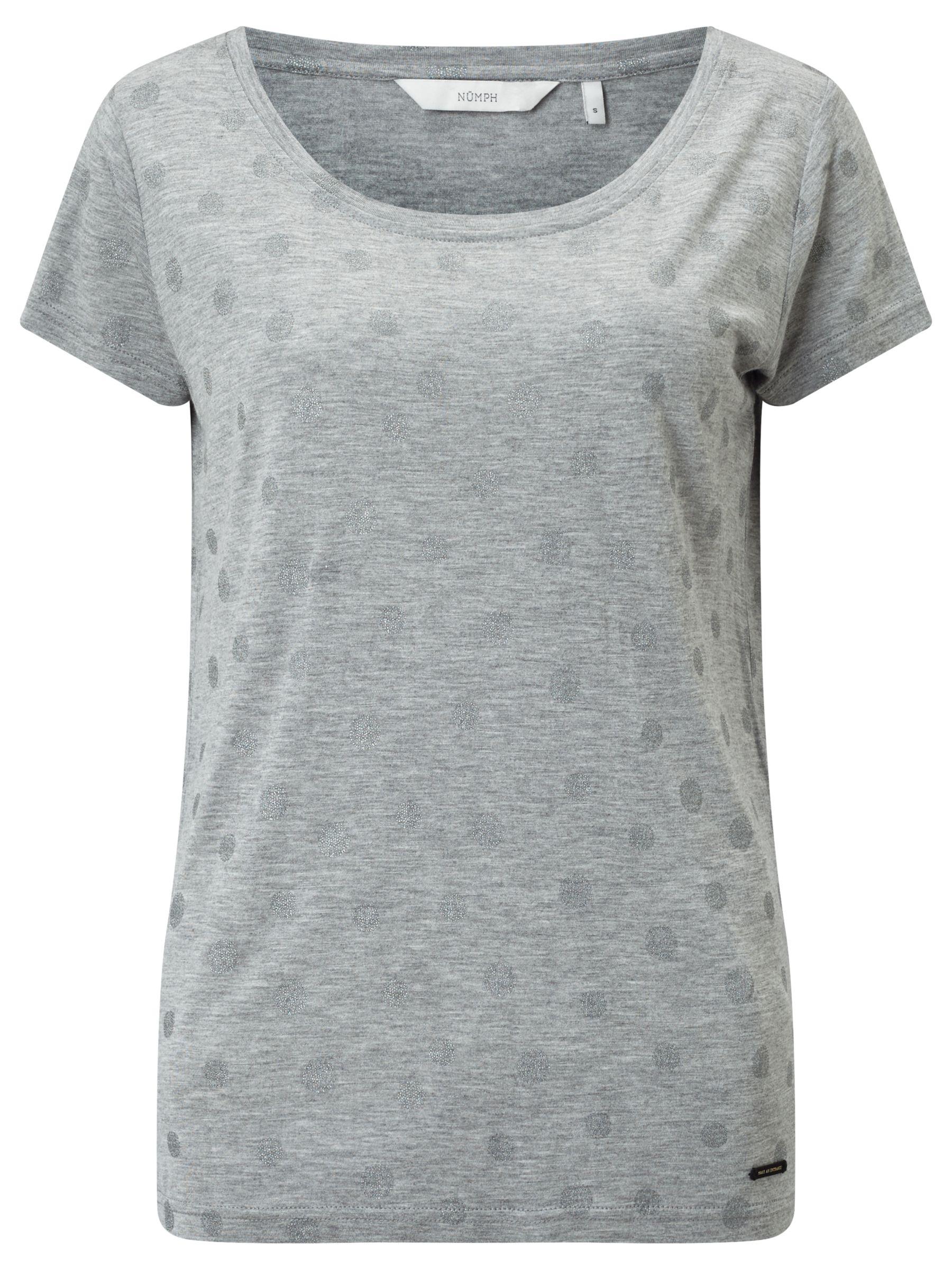 Numph Numph Metallic Spot T-Shirt, Grey