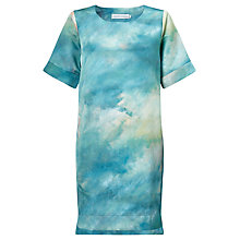 Buy Deborah Campbell Atelier Summer Breeze Abstract Shift Dress, Blue/Yellow Online at johnlewis.com