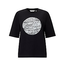 Buy Numph Kos Circle Print T-Shirt, Caviar Online at johnlewis.com