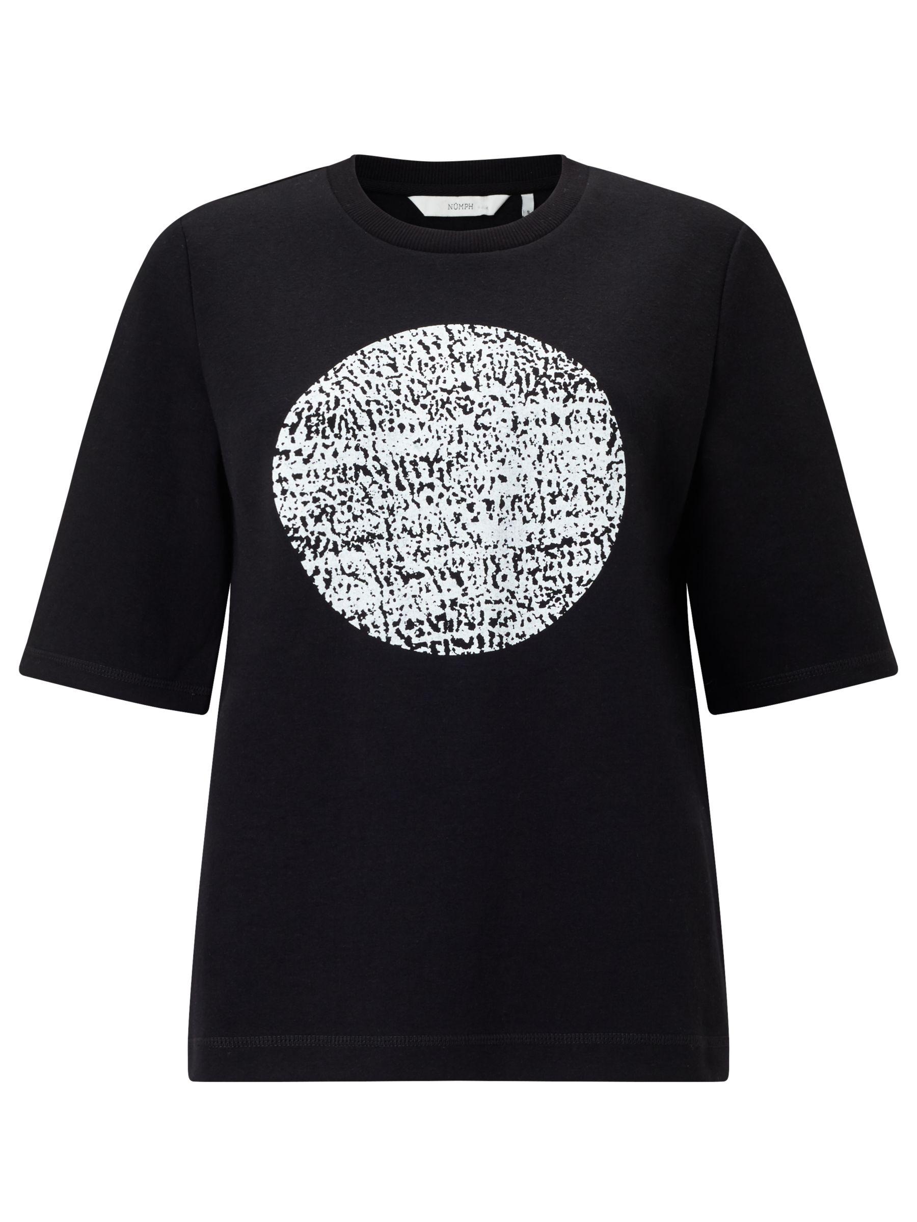 Numph Numph Kos Circle Print T-Shirt, Caviar