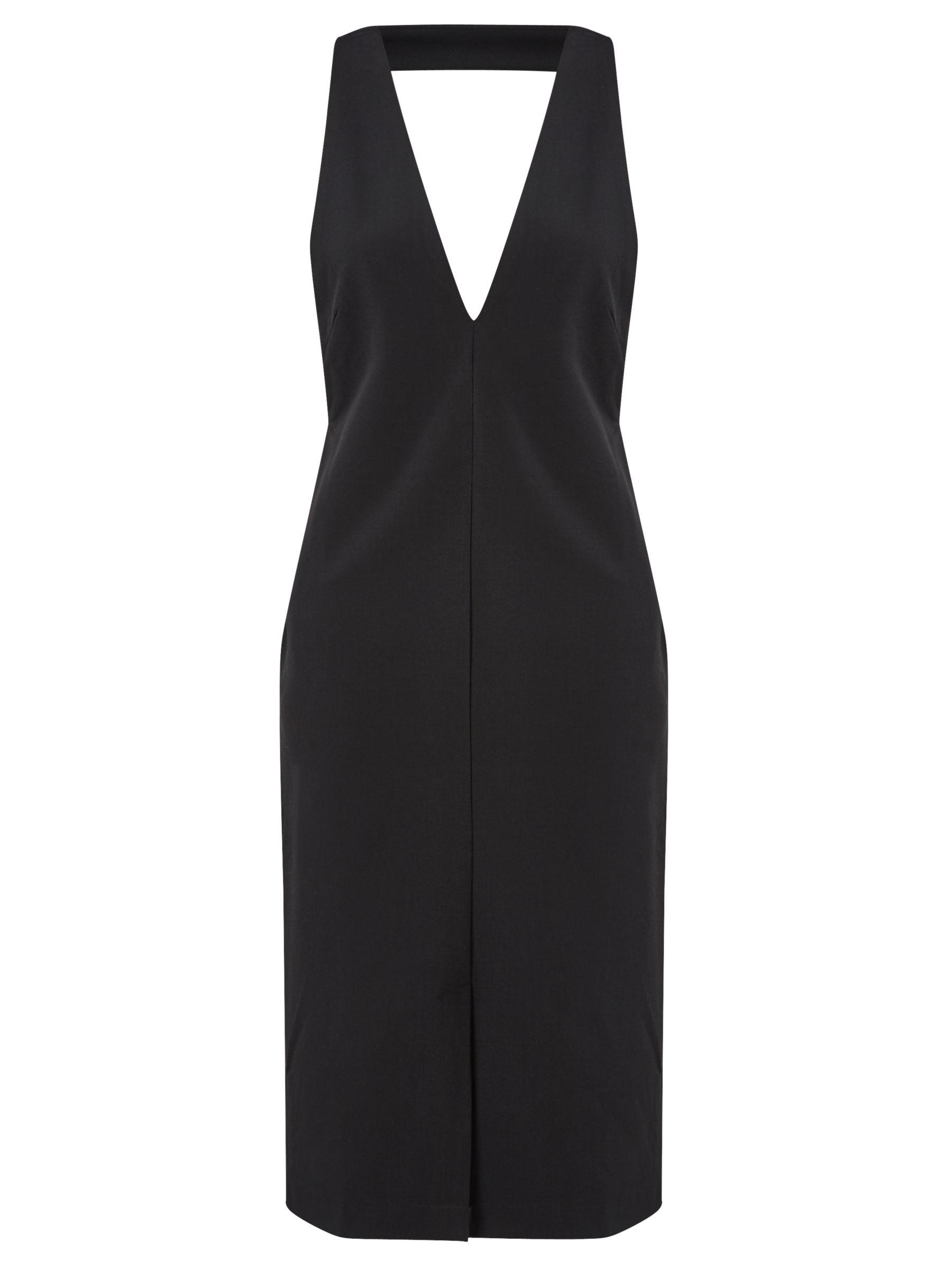 Numph Numph Jovina Pinafore Dress, Black