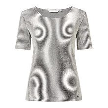 Buy Numph Laretta Stripe Top, White/Black Online at johnlewis.com