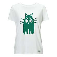 Buy People Tree Cat Print T-Shirt Online at johnlewis.com