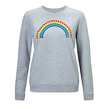 Buy People Tree Rainbow Sweatshirt, Grey Online at johnlewis.com
