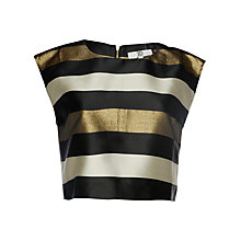 Buy True Decadence Stripe Crop Top, Bronze/Cream Online at johnlewis.com