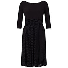 Buy Adrianna Papell Cold Shoulder Fit And Flare Party Dress, Black Online at johnlewis.com