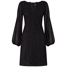 Buy Adrianna Papell Cold Shoulder Sleeve Shift Dress, Black Online at johnlewis.com