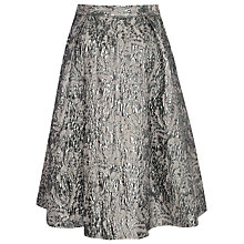 Buy True Decadence Jacquard Skater Skirt, Pewter Online at johnlewis.com