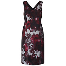Buy Adrianna Papell Portrait Neck Fitted Sheath Dress, Red/Multi Online at johnlewis.com