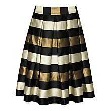 Buy True Decadence Stripe Skirt, Bronze/Cream Online at johnlewis.com
