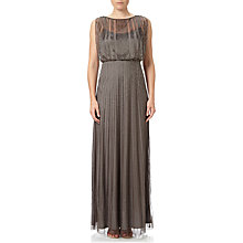 Buy Adrianna Papell Extended Cap Sleeve Bead Blouson Maxi Dress, Lead Online at johnlewis.com