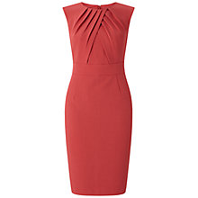 Buy Adrianna Papell Pleated Bodice Sheath Dress, Rose Marquee Online at johnlewis.com