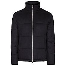 Buy Reiss Torel Quilted Zip Bomber Jacket, Midnight Online at johnlewis.com