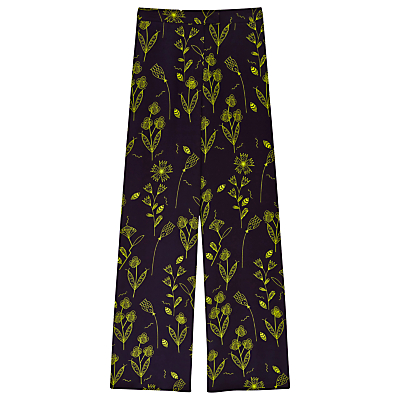 Finery Belgrade Wide Leg Squiggle Print Trousers, Multi