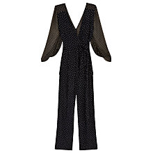 Buy Finery Sandingham Polka Dot Jumpsuit, Navy Online at johnlewis.com