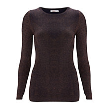Buy Finery Roxwell Metallic Detail Jumper, Navy Online at johnlewis.com