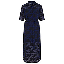 Buy Finery Holmleigh Burnout Shirt Dress, Navy/Black Online at johnlewis.com