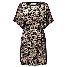 Buy Maison Scotch Floral Print Dress, Navy/Multi Online at johnlewis.com